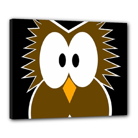 Brown simple owl Canvas 20  x 16
