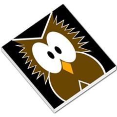 Brown simple owl Small Memo Pads