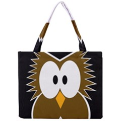 Brown simple owl Mini Tote Bag