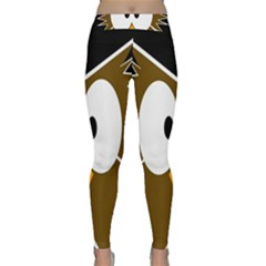 Brown simple owl Yoga Leggings