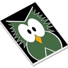 Green Owl Large Memo Pads
