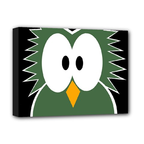 Green owl Deluxe Canvas 16  x 12