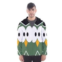 Green owl Hooded Wind Breaker (Men)