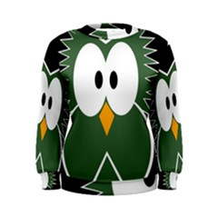 Green owl Women s Sweatshirt