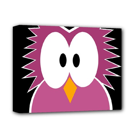 Pink owl Deluxe Canvas 14  x 11
