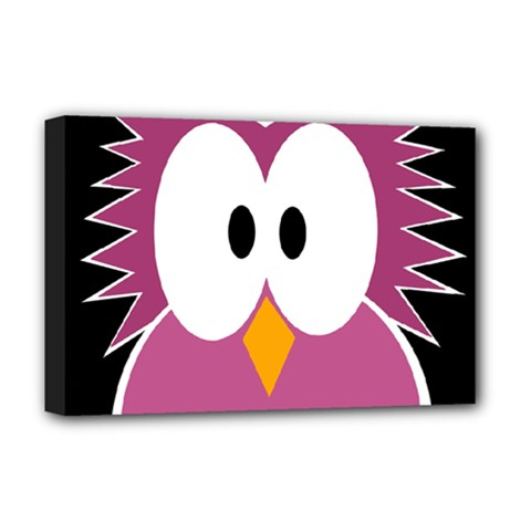 Pink owl Deluxe Canvas 18  x 12