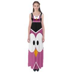 Pink Owl Empire Waist Maxi Dress