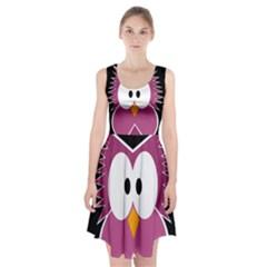 Pink Owl Racerback Midi Dress