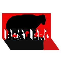 Bear BEST BRO 3D Greeting Card (8x4)