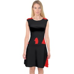 Bear Capsleeve Midi Dress