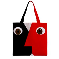 Kiss Zipper Grocery Tote Bag