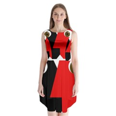 Kiss Sleeveless Chiffon Dress
