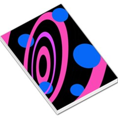 Pink and blue twist Large Memo Pads
