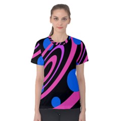 Pink and blue twist Women s Cotton Tee