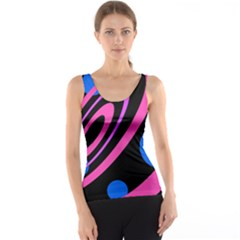 Pink and blue twist Tank Top