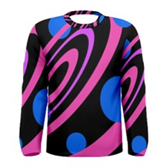 Pink and blue twist Men s Long Sleeve Tee