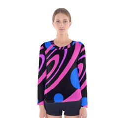 Pink and blue twist Women s Long Sleeve Tee