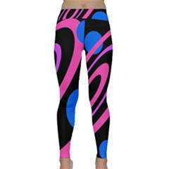 Pink and blue twist Yoga Leggings