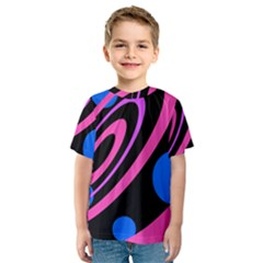 Pink and blue twist Kid s Sport Mesh Tee