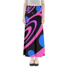 Pink and blue twist Maxi Skirts