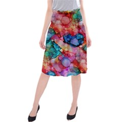 Rainbow Ocean  Midi Beach Skirt