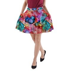 Rainbow Ocean  A-Line Pocket Skirt