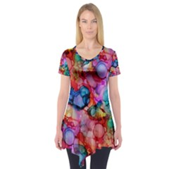 Rainbow Ocean  Short Sleeve Tunic