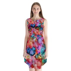 Rainbow Ocean  Sleeveless Chiffon Dress