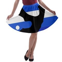 Anchor A-line Skater Skirt