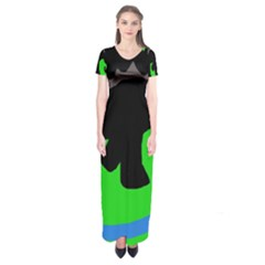 Elephand Short Sleeve Maxi Dress