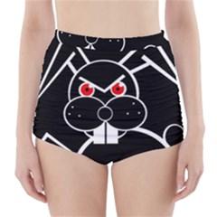 Evil rabbit High-Waisted Bikini Bottoms