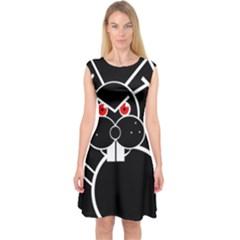 Evil rabbit Capsleeve Midi Dress