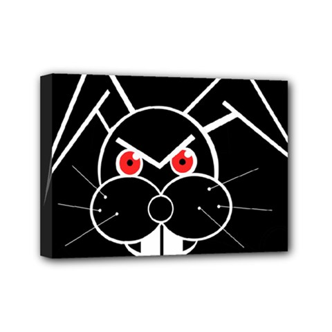 Evil rabbit Mini Canvas 7  x 5