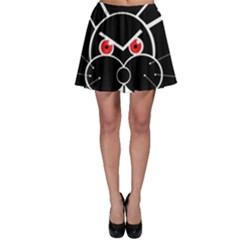 Evil rabbit Skater Skirt