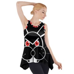 Evil Rabbit Side Drop Tank Tunic