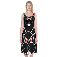 Evil rabbit Midi Sleeveless Dress
