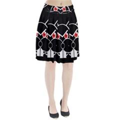 Evil rabbit Pleated Skirt