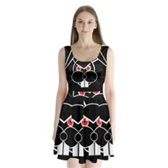 Evil Rabbit Split Back Mini Dress