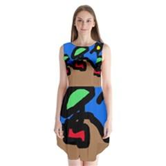Beach Sleeveless Chiffon Dress