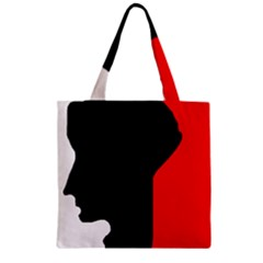 Man Zipper Grocery Tote Bag