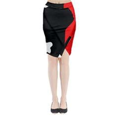 Man Midi Wrap Pencil Skirt