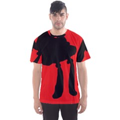 Red and black abstraction Men s Sport Mesh Tee