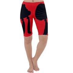 Red and black abstraction Cropped Leggings
