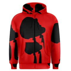 Red and black abstraction Men s Zipper Hoodie