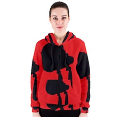 Red and black abstraction Women s Zipper Hoodie