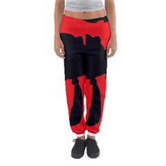 Red and black abstraction Women s Jogger Sweatpants