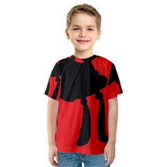 Red and black abstraction Kid s Sport Mesh Tee