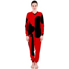Red and black abstraction OnePiece Jumpsuit (Ladies)