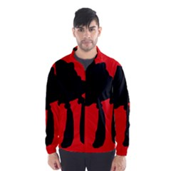 Red and black abstraction Wind Breaker (Men)