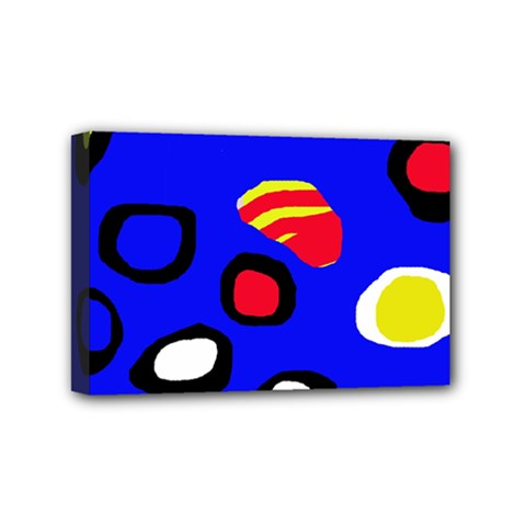Blue pattern abstraction Mini Canvas 6  x 4